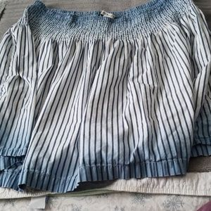 Tommy Hilfiger blue and white short skirt